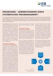 Gewinnsteigerung durch systematisches Preismanagement - ISB AG