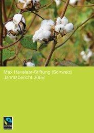 Jahresbericht 2008 - Max Havelaar Switzerland