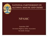national partnership on alcohol misuse and crime - Governors ...