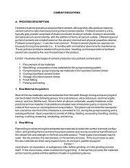 CEMENT INDUSTRIES A. PROCESS DESCRIPTION ... - Inece
