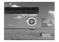 Estate and Probate Planning – Using Trusts Tax ... - Stewart McKelvey