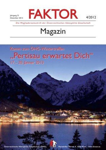 Faktor Magazin 2012_Faktor Magazin Dezember 2012