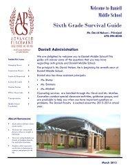Survival Guide - Cobb County School District