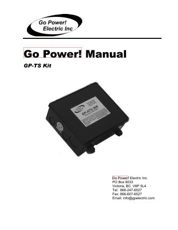 Go Power! Manual - Safe Home Products