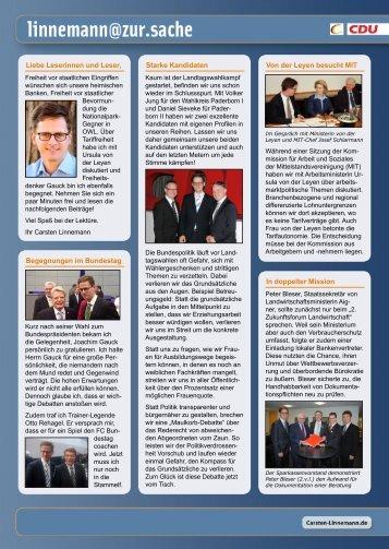 Infobrief - Ausgabe 02/12 - Carsten Linnemann