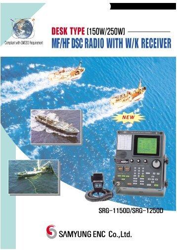 mf/hf dsc radio with w/k receiver new