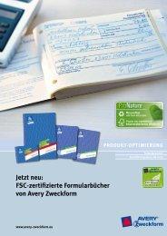 Jetzt neu: Fsc-zertifizierte Formularbücher von avery zweckform