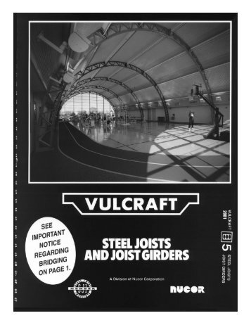 Vulcraft Steel Joists and Joist Girders Catalog - Sites at Lafayette