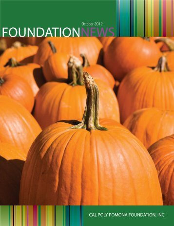 October Issue.indd - Cal Poly Pomona Foundation