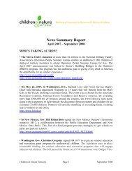News Summary Report - Children & Nature Network