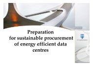 Preparation for sustainable procurement of energy efficient data ...