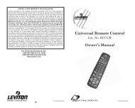 Universal Remote Control - Leviton