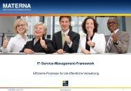 IT-Service-Management-Framework - Effiziente Prozesse für die ...