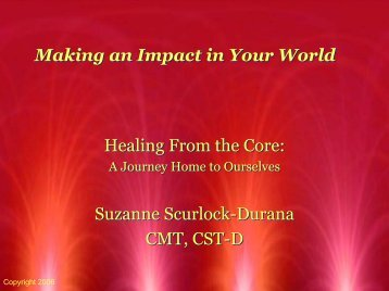 Healing From the Core: Suzanne Scurlock-Durana CMT, CST-D ...