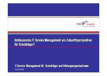 IT Service Management als Zukunftsperspektive für Schulträger?
