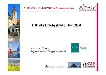 ITIL als Erfolgsfaktor für SOA - FIT-öV