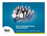 End to End Supply Chain Transformation - Supply Chain Council