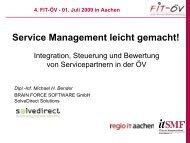 Service Management leicht gemacht! - FIT-öV