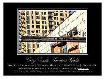 City Creek Preview Gala - Junior League of Salt Lake City