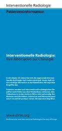 Patienteninformation Interventionelle Radiologie: Ihre Alternative zur ...