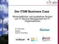 Wirtschaftlichkeit und qualitativer Nutzen von ITSM für IT ...