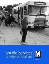 Shuttle Services at Metro Facilities (2011) - WMATA.com