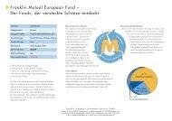 Franklin Mutual European Fund – Der Fonds, der ... - INFOS GmbH