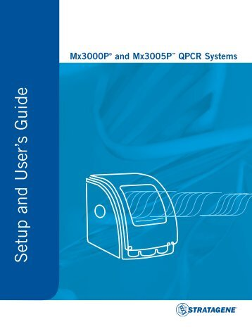 QPCR Systems Setup And User's Guide
