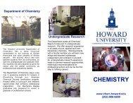 Department of Chemistry - COAS - Howard University