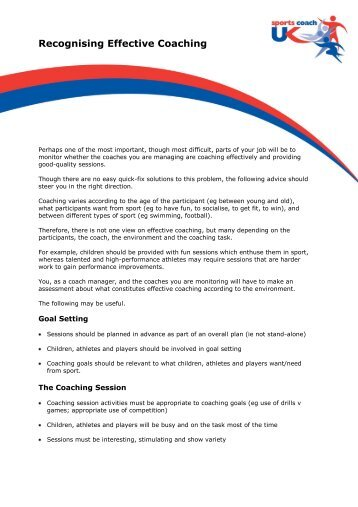 Recognising Effective Coaching.pdf - sports coach UK