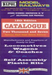 Dapol Catalogue 12th Edition (copyright 2006 Dapol Ltd)