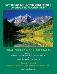 52nd Rocky Mountain Conference on Analytical Chemistry
