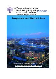 Programme and Abstract Book - The European Histamine Research ...