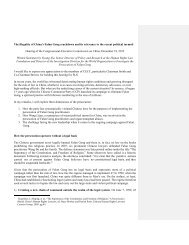 Full text of testimony - Congressional-Executive Commission on China