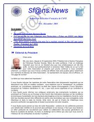 newsletter Juin - Local Sections - American Nuclear Society