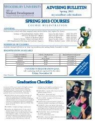 Advising Bulletin (Spring 2013) - at www.my.woodbury.edu.