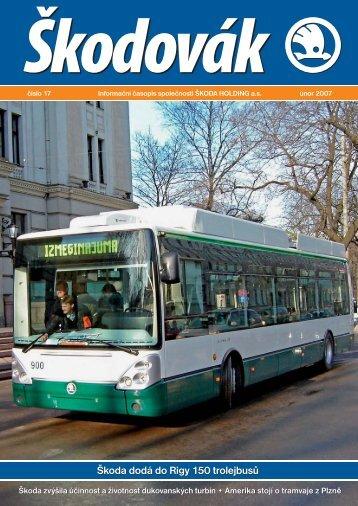 Škoda dodá do Rigy 150 trolejbusů Škoda dodá do Rigy 150 ...