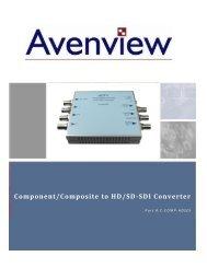 Component/Composite to HD/SD-SDI Converter - Touchboards