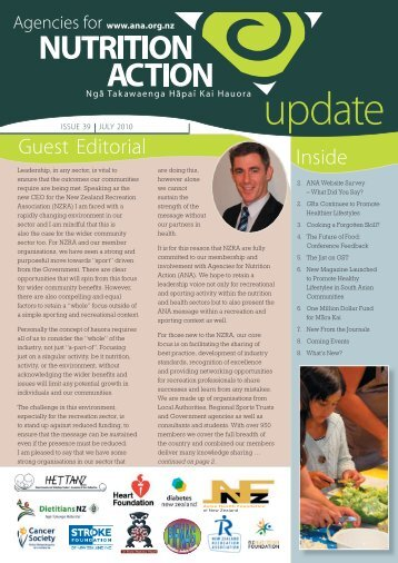 Quarterly newsletter: July 2010 - Agencies for Nutrition Action