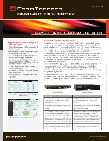 centralized management for fortigate security systems