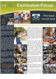 Curriculum Focus - Panaga School