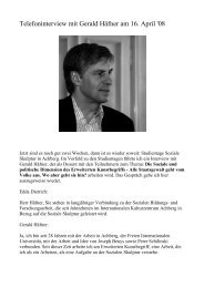 Telefoninterview mit Gerald Häfner am 16. April '08 - Ursache Zukunft