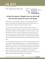 In time for summer, shoppers can save 36% with store brands - PLMA