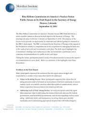 Denver - Blue Ribbon Commission on America's Nuclear Future