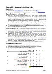 Logotechnical Analysis of Psalm 37 - labuschagne