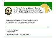 Africa Center for Strategic Studies Centre d'études stratégiques de l ...