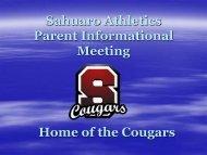 Sahuaro Parent Meeting Powerpoint