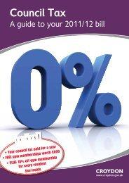 Council tax booklet 2011 - Croydon Council