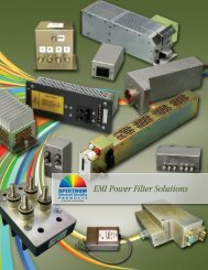 EMI Power Filter Solutions Catalog - Spectrum Control