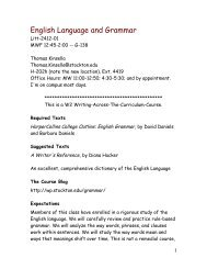 English Language and Grammar - Richard Stockton College of New ...